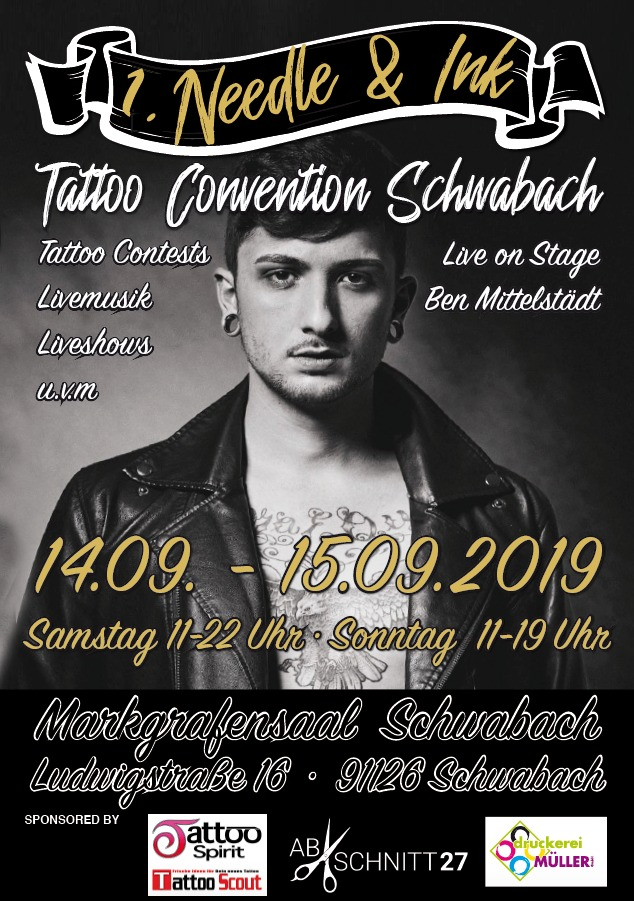 Needle & Ink Tattoo Convention in Schwabach Flyer